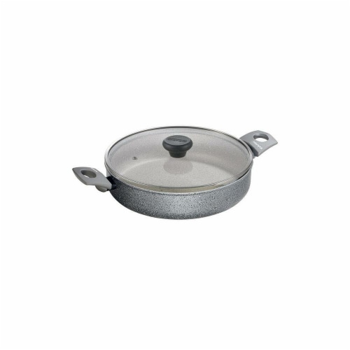 Range Kleen 10 in. Gray Stone 3 qt Saute Casserole Pan Perspective: front