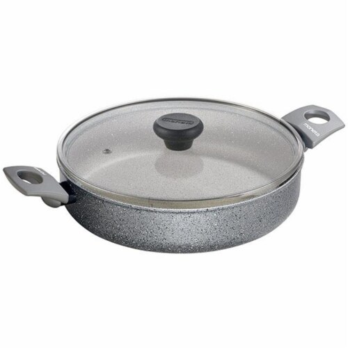 Range Kleen 11.5 in. Gray Stone 4 qt Saute Casserole Pan Perspective: front