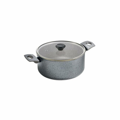Range Kleen 10 in. Gray Stone 4.75 qt Dutch Oven Perspective: front