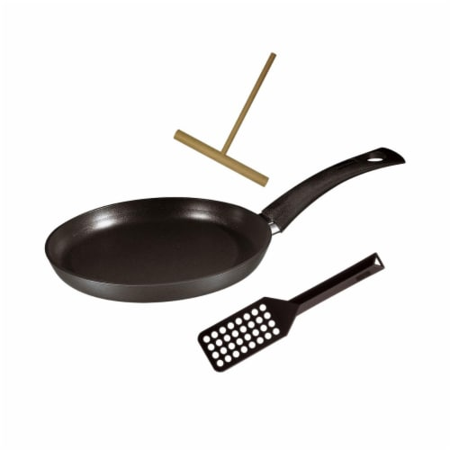 Range Kleen 579865T 9.5 in. Specialty Crepe Pan with Tools Perspective: front