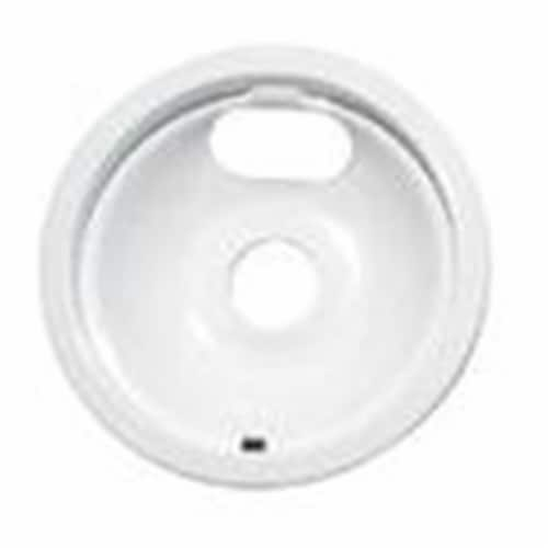 Range Kleen P120W P120W- White 8 Inch Drip Pan Perspective: front