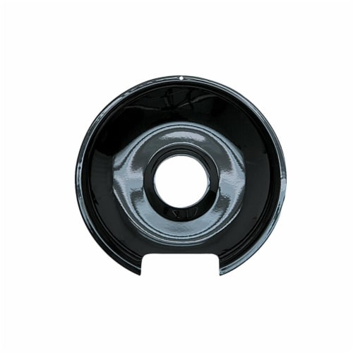 Range Kleen P103 6 in. Style E Small Heavy Duty Porcelain Drip Pan, Black Perspective: front