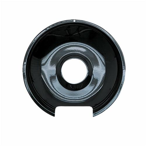 Range Kleen P104 8 in. Drip Pan Porcelain, Black Perspective: front