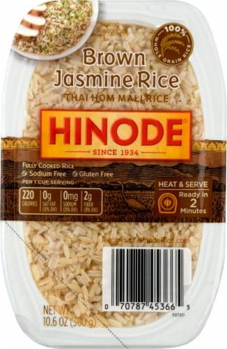 Hinode Heat & Serve Brown Jasmine Rice Perspective: front
