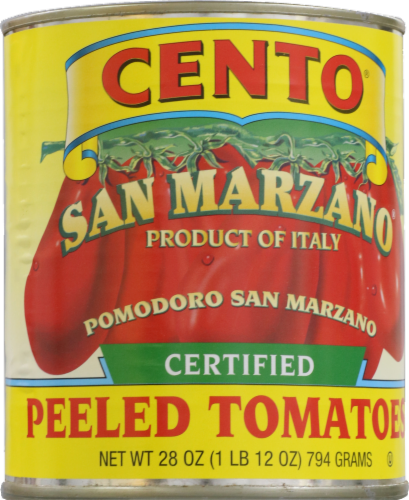 Cento San Marzano Certified Peeled Tomatoes Perspective: front