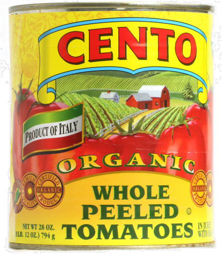 Cento Organic Whole Peeled Tomatoes Perspective: front