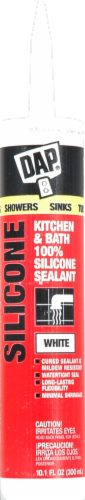 DAP Kitchen and Bath Adhesive Silicone Sealant - White Perspective: front