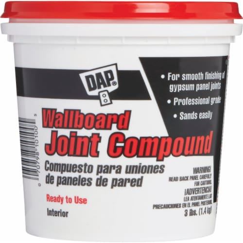 Dap Wallboard Joint Compound,3 lb,Pail,White HAWA 10100 Perspective: front
