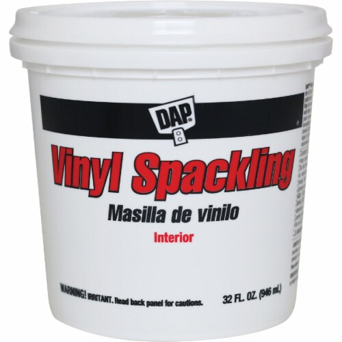 DAP Heavy-Duty Interior Vinyl Spackling - White Perspective: front
