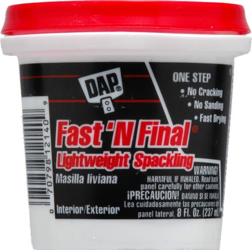 DAP Fast 'N Final Lightweight Spackling Perspective: front