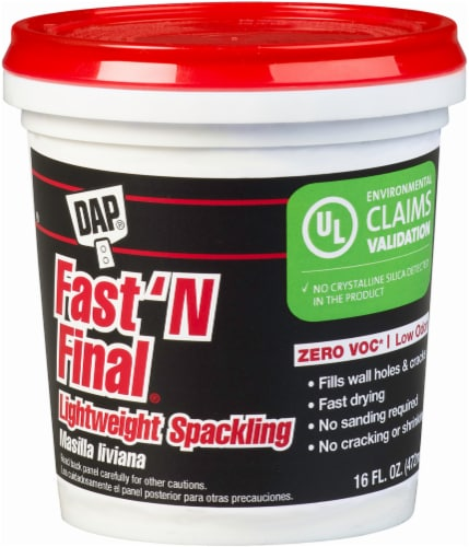 DAP® Fast N Final® Lightweight Spackling - White Perspective: front