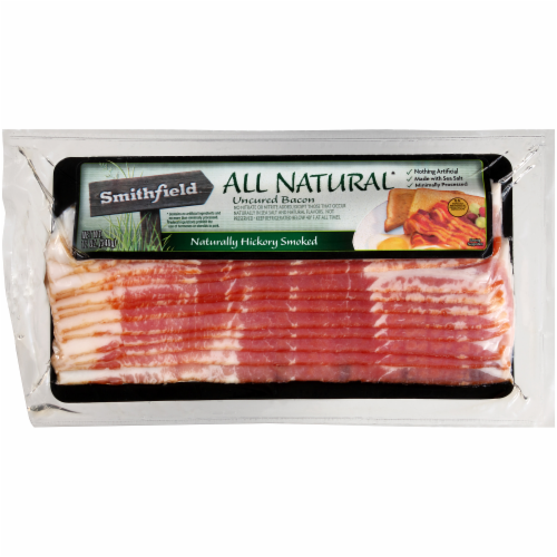 Smithfield Natural Hickory Smoked Bacon Perspective: front