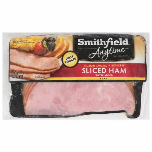 Smithfield Anytime Favorites Boneless & Hickory Smoked Sliced Ham Perspective: front