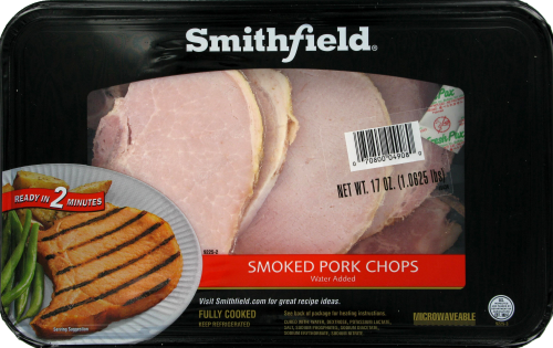 Smithfield Smoked Pork Chops Perspective: front