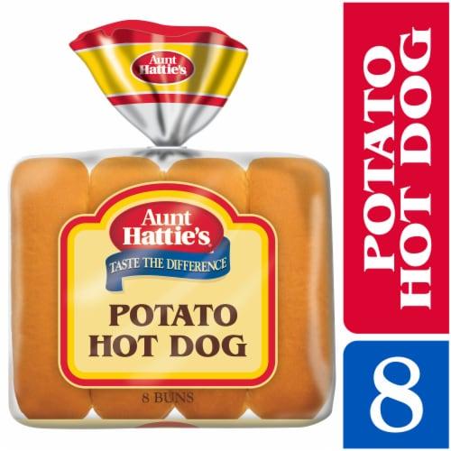 Aunt Hattie's Potato Hot Dog Buns 8 Count Perspective: front