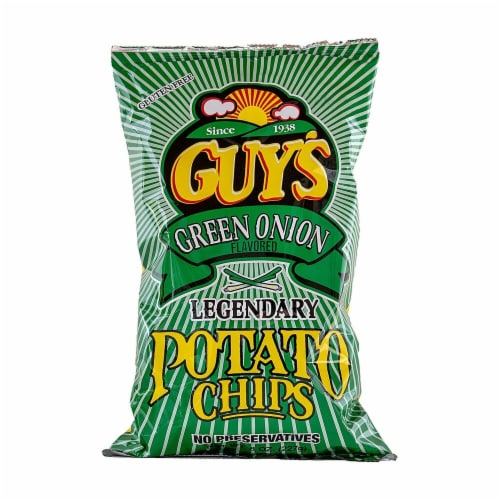 Guy's Green Onion Potato Chips Perspective: front