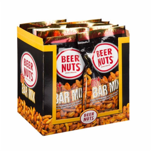 Beer Nuts Hot Bar Mix, 3.25 Ounce Value Pack -- 48 per case. Perspective: front
