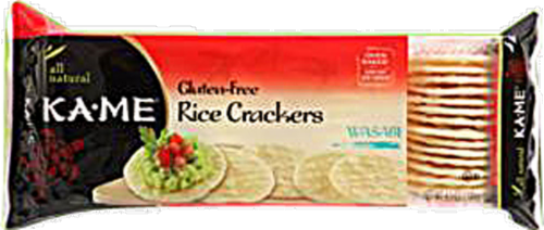 Ka-Me Wasabi Rice Crunch Crackers Perspective: front