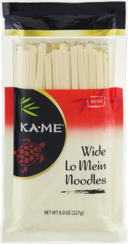 Ka-Me Wide Lo Mein Noodles Perspective: front
