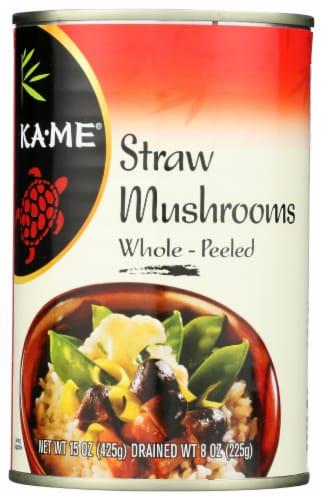 Ka-Me Whole Peeled Straw Mushrooms Perspective: front