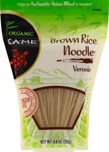 KA-ME Organic Brown Rice Noodles - Vermicelli Perspective: front