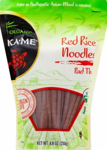 KA-ME Organic Red Rice Noodles - Pad Thai Perspective: front