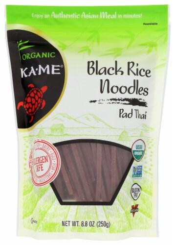 KA-ME Organic Black Rice Noodles - Pad Thai Perspective: front