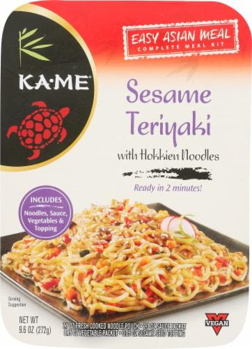 KA-ME Sesame Teriyaki wth Hokkien Noodles Meal Kit Perspective: front