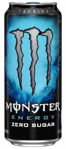 Monster Zero Sugar Energy Drink Perspective: front