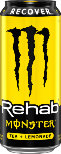 Monster Rehab Lemonade Energy Drink Perspective: front