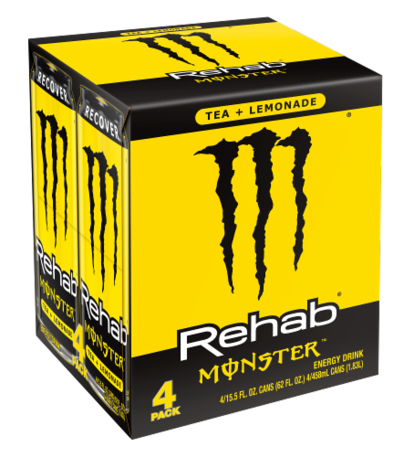 Monster Rehab Tea Lemonade Energy Drink Perspective: front