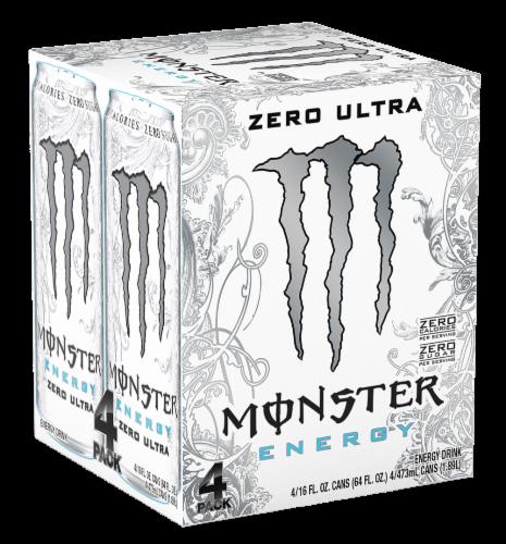 Monster Zero Ultra Energy Drink Perspective: front