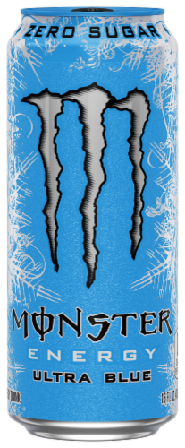 Monster Ultra Blue Energy Drink Perspective: front