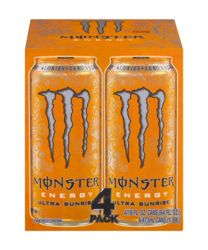 Monster Ultra Sunrise Energy Drink Perspective: front