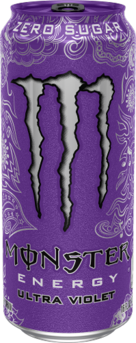 Monster Ultra Violet Energy Drink Perspective: front