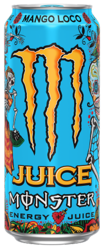 Monster Mango Loco Energy Juice Perspective: front