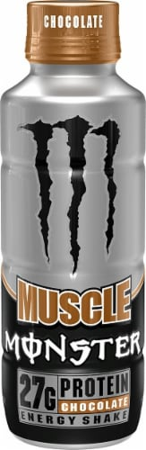 Monster Muscle Milk Chocolate Energy Shake Perspective: front