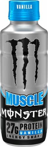 Monster Muscle Vanilla Energy Shake Perspective: front