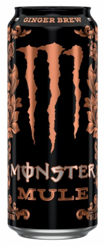 Monster Mule Ginger Brew Energy Drink Perspective: front