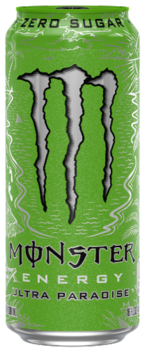 Monster Ultra Paradise Energy Drink Perspective: front