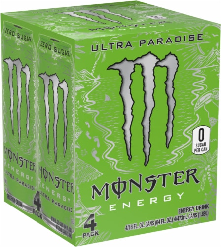 Monster Ultra Paradise Energy Drinks Perspective: front