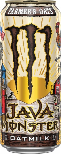 Java Monster Farmer Oats Coffee Perspective: front