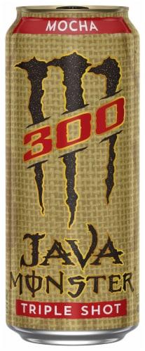 Java Monster M300 Triple Shot Energy Drink Perspective: front