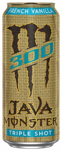 Java Monster 300 Triple Shot French Vanilla Ready to Drink Coffee Perspective: front