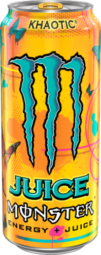 Monster Juice Khaotic Energy Drink Perspective: front