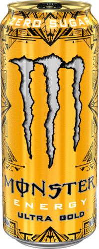 Monster Ultra Gold Energy Drink Perspective: front