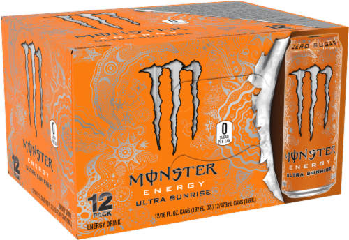 Monster Energy Ultra Sunrise Drink Perspective: front