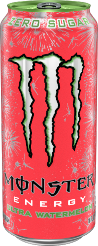 Monster Zero Sugar Ultra Watermelon Energy Drink Perspective: front