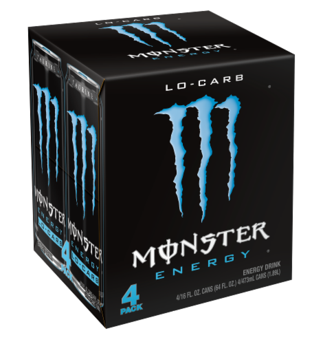 Monster Lo-Carb Energy Drink Perspective: front