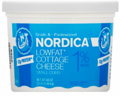 Nordica 1% Cottage Cheese Perspective: front